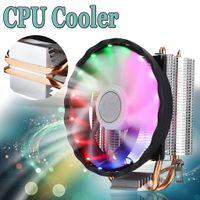 120 Mm RGB LED Lüfter CPU Kühler 4 Poliger Kühlkörper für Intel Socket LGA