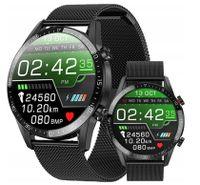 Neue L13 Smart Uhr Männer IP68 Wasserdichte EKG PPG Bluetooth Anruf Blutdruck Herz Rate Fitness Tracker Sport Smartwatch - Metallband Schwarz