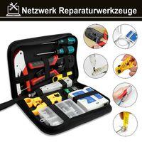 karpal 13tlg Werkzeug Kabel Set Crimpzange Patchkabel Netzwerk Kabeltester Premium Elektronik