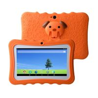 "7 ""Kinder Tablet PC 8 GB Quad-Core-Wi-Fi-Tablet-PC-Pad mit stossfestem Silikon-Schutzhuelle fuer Kinder Paedagogisches"