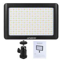 Andoer tragbare Mini-Dimmbare Studio Video Fotografie LED Light Panel Lampe 3200K / 6000K 192pcs Beads fuer Canon Nikon DSLR-Kamera-DV-Camcorder