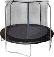 EUGAD Gartentrampolin mit Sicherheitsnetz Sprungfedern Kindertrampolin SÜD GS Komplettset belastbar 100-150 kg Schwarz Ø305cm