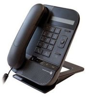 Alcatel-Lucent 8012 DeskPhone, Schwarz, Kabelgebundenes Mobilteil, Digital, LCD, 1 Zeilen, G.711a,G.729