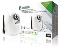 König Indoor Schwenk/Neige-IP-Kamera zur Fern-Videoüberwachung, weiß, SAS-IPCAM110W