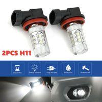 2pcs H11 H8 H9 H1Super Weiß Helles Auto Auto LED Nebelscheinwerfer DRL Lampe 6500K(Passend für H1, H3, H7, H11 (H8, H9), 9005 (HB3), 9006 (HB4))