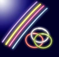 100 Knicklichtern + 100 Steckverbinder / 6 verschiedenen Farben / Länge: 200mm