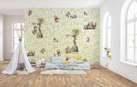 """Komar Vlies Fototapete """"Winnie Pooh Friends"""" - Größe: 300 x 280 cm (Breite x Höhe), 6 Bahnen"""