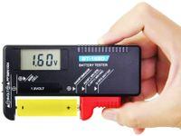 Batterietester Digitaler Akku Tester BT-168D Batterie Testgeräte mit LCD Anzeige Universal Batterieprüfer für AA,AAA,C,D,1.5V,9V Batterien und Knopfzellenbatterien