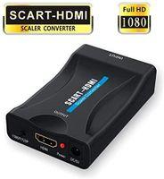Scart auf HDMI,Scart zu HDMI Konverter 1080P Scart to HDMI Adapter 60Hz HD mit USB Ladekabel für HDTV STB Xbox PS3 Sky DVD Blu-ray