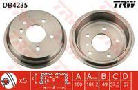Trw Bremstrommel Hinterachse DB4235