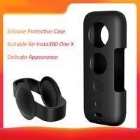 PULUZ Protective Silicone Case mit Objektivdeckel Anti-Scratch Protective verschleißfester Shell Protector für Insta360 One X