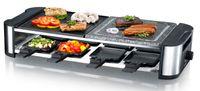 Melissa 16300025 Raclette mit Hot Stone für 8 Personen 1300 Watt Power mit Stein- und Grillplatte und regelbarer Temperatur