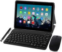 TOSCIDO Tablets 10 Zoll Octa-core mit Tastatur und Maus, Android 10.0, 4 GB RAM, 64 GB ROM, Dual SIM, 5G WiFi, Bluetooth 5.0, GPS, M863, Farbe: Grau