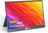 Arzopa Tragbarer Monitore 2K 13,3'' Ultra-Slim 2560x1600 100% sRGB Tragbarer Laptop-Monitor, USB C HDMI Gaming Computer Display IPS Augenpflege Bildschirm mit Smart Case & 2 Lautsprechern, für PC Mac Phone PS4 Xbox