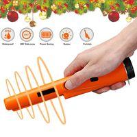 12 kHz Schatzsuche Pinpointer Metall Detektor Metallsuchgerät 22,9 * 3,8 * 2,2 cm mit LED Taschenlampe Farbe : Orange Schwarz