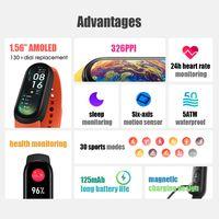 Xiaomi MI Band 6 Smartwatch 1,56 Zoll AMOLED BT5.0 Fitness Tracker 30 Sportmodi / 5ATM Wasserdicht / MI Fit APP / Schlaf / Herzfrequenz / Blutdruckmessgeraet Meldung / Anruf / Bewegungsminderung Kompatibel mit Android iOS-Handys