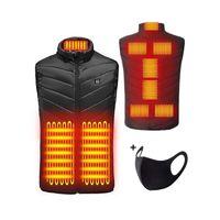 Apotto Beheizte Weste, Elektrische Beheizte Jacke USB-Lade Heizweste für Herren Damen, Warme Heat Jacke mit 3 Fakultativ Temperatur für Körperwärmer Outdoor-Aktivitäten Winter