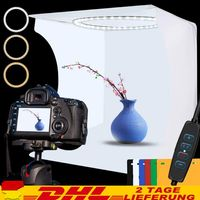 Fotobox Fotostudio LED Lichtbox Hintergrund Lichtwürfel Professionell Fotografie Faltbare Fotostudios Box Fotografieren Zelt Light Box Mini Tragbare Faltbare Fotografie Beleuchtungsset mit 6 Farben Hintergruende