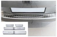 Ladekantenschutz und Einstiegsleisten für VW Passat B8 3G Variant Bj.2014-2018, Farbe:Silber