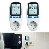 2 Stück Energiekosten-Messgerät Strommessgerät Stromkostenmesser