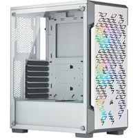 Corsair iCUE 220T RGB Airflow - Midi-Tower - PC - Stahl - Gehärtetes Glas - Weiß - ATX,Micro ATX,Mini-ITX - Gaming