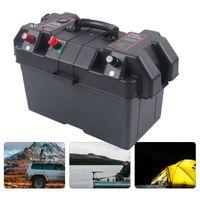 Batteriebox Batteriekasten Box Batteriehalter Multifunktion für Boot Bootsmotor Doppelte USB Ladeanschluss Auto Aufladen