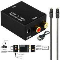 Audio Konverter Digitaler Audiowandler Medienadapter Audio Kabel Adapter Koaxial Toslink Optisch Digital zu auf Analog Cinch