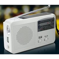 6 in1 Tragbares Kurbelradio / Solarradio, 6 in 1 Funktionen, MP3 Player / Radio / Lampe / Powerbank