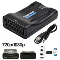 Scart zu auf HDMI Konverter Wandler AV Scaler Converter Adapter 1080P HD TV USB 1M HDMI-Kabel