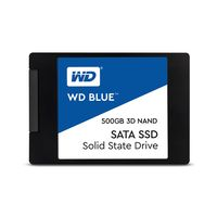 Western Digital WD Blau 500 GB PC SSD 3D NAND SATA3 6 GB / s 2,5 Zoll Solid State Drive Festplatte fuer PC Laptop (WDS500G2B0A)