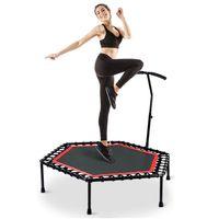 MIPAN Trampolin mit verstellbarem Griff für die Fitness von Erwachsenen,Max Bis 150 KG