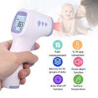 Berührungsloses Thermometer IR Infrarot Thermometer 10-30mm Stirn temperaturmessung LCD-Digital anzeige ℃ / ℉(Mit deutschem Handbuch)