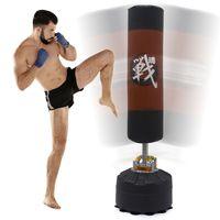 175 cm Boxsack - Feder Dämpfung - MMA Standboxsack für Erwachsene mit Saugfuß