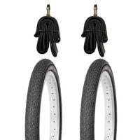 2x Kujo Fahrradreifen 18 Zoll Reifen 18x1.75 47-355 inkl. 2x Schlauch DV 40mm
