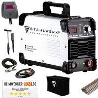 STAHLWERK ARC 200 ST IGBT - Schweißgerät DC MMA / E-Hand Welder mit echten 200 Ampere sehr kompakt, weiß