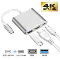 Typ C USB 3.1 auf USB-C 4K HDMI USB 3.0 Adapterkabel 3 in 1 Hub für Macbook Pro