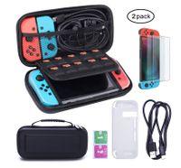 Nintendo Switch Tasche, Zodight Tragetasche für Nintendo Switch + Silikon Schutzhülle + Switch Displayschutzfolie + USB Typ C Ladekabel, Groß Reisetasche für Nintendo Switch Konsole & Zubehör