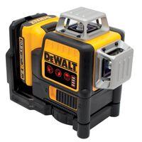 DeWALT Multilinien-Laser DCE089D1R-QW 10,8 V 2 Ah 3x 360 Grad rot - Set inklusive Akku, Ladegerät, Koffer und mehr - Laser selbstnivellierend horizont
