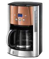 Russell Hobbs 24320-56 Luna Copper Accents Glas-Kaffeemaschine kupferfarben / Edelstahl poliert / schwarz, Farbe:Kupferfarben