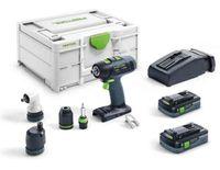 Festool Akku Bohrschrauber T 18+3 HPC 4,0 I-Set im Systainer SYS3 M 187 576455