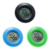 3 Stück Mini Round Digital Feuchtigkeitsbehälter Hydrometer Thermometer Für Reptilien