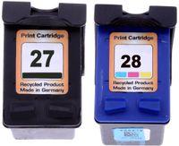 1x Tinten Patrone HP 27 black (C8727A) 1x HP 28 color (C8728A) Kompatibel