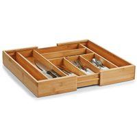 Zeller Besteckkasten, ausziehbar, Bamboo 35-58x43x6,5