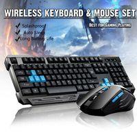 Wireless Kabellos Gaming Tastatur Maus Funk Keyboard Set für PC Laptop 2.4G