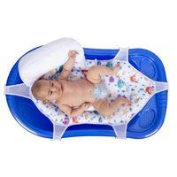 Baby BadeNetz mit Stützkissen Waschnetz Einlage Sevibaby Badewannensitz Weiß 690 -1