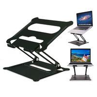 WISFOR Laptopständer Höhenverstellbar Notebook Ständer, für 10-17 Zoll Laptop, Aluminiumlegierung, Schwarz