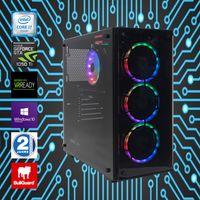 RGB Gamer PC Intel Core i7-6700K nvidia GeForce GTX 1050 Ti 16GB DDR4 RAM 1TB SSD 2TB HDD Win10Pro