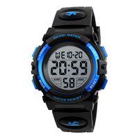 SKMEI Kinderuhr Armbanduhr Mode Multifunktions Wasserdichte Outdoor Sports Leuchtende Uhr fuer Kinder Studenten Jungen 1266 Blau