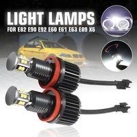 2x H8 120W LED Angel Eyes Scheinwerfer Für BMW E82 E90 E92 E60 E61 E63 E89 X5 X6