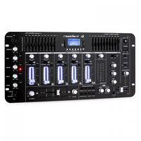 Resident DJ Kemistry 3BK - DJ-Mixer , 4-Kanal Mischpult , DJ-Mischpult , Bluetooth , USB-Port , SD-Slot , MP3-fähig , 2 x Cinch-Phono/Line-Eingang , XLR-/Klinken-Eingänge , Rackmontage , schwarz